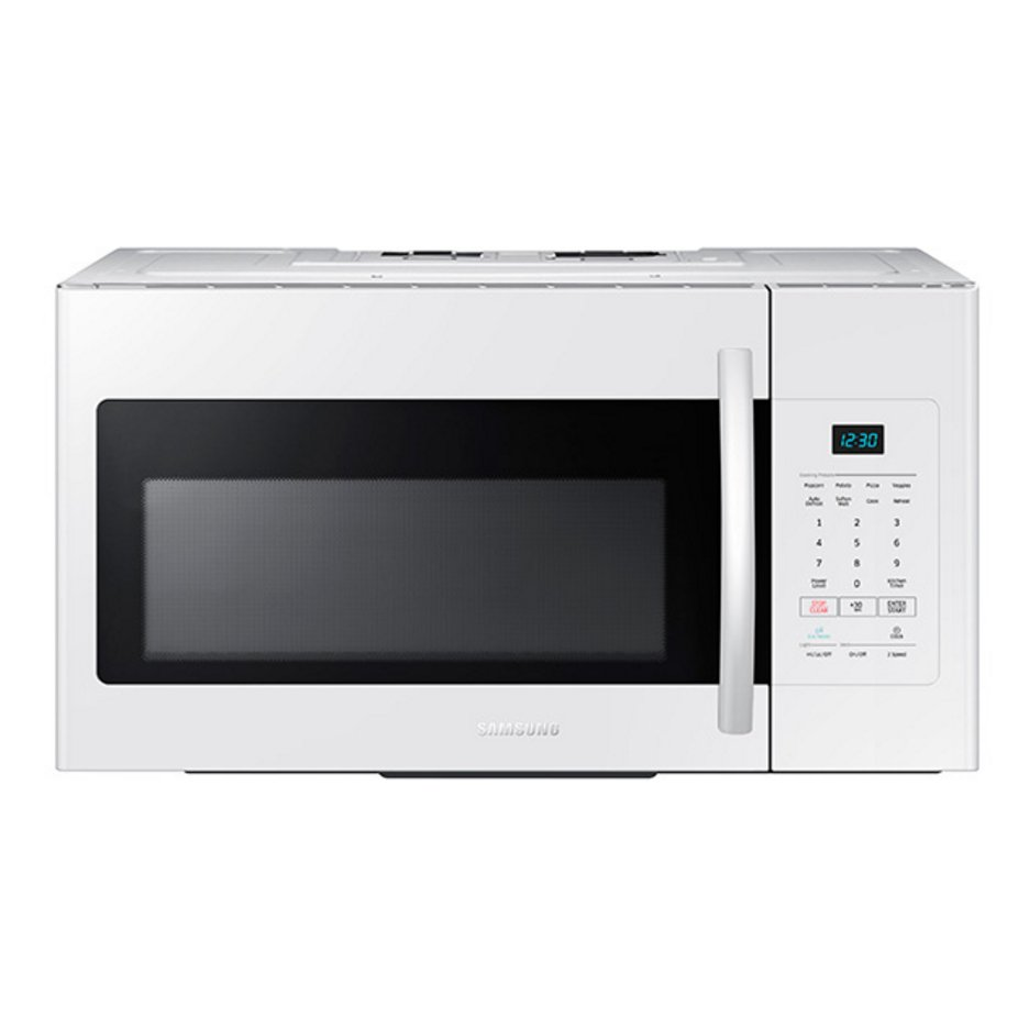 Me16h702sew Samsung Over The Range Microwave With Eco Mode 1 6 Cu Ft White