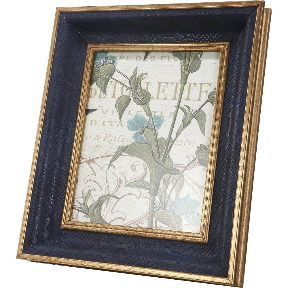 Shop picture frames rc willey furniture store navy blue with gold accents picture frame jeuxipadfo Choice Image