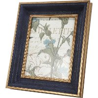 Navy Blue with Gold Accents Picture Frame
