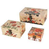 4 Inch Assorted Floral Storage Box