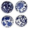 Assorted 4 Inch Blue and White Decorative Ceramic Ball