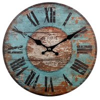Distressed Blue 12 Inch Wall Clock