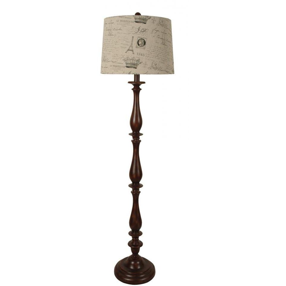 Shop lamps and lighting page 3 rc willey furniture store lpsw 041scriptshade espresso polyresin floor lamp with linen handwriting shade aloadofball Images