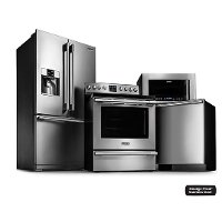 FRG-PRO-3DR-ELE-KIT Frigidaire Professional Kitchen Appliance Package with Electric Range - Stainless Steel