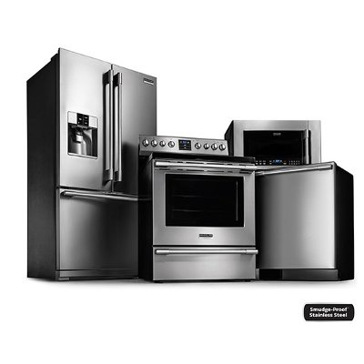 Frigidaire Professional Kitchen Appliance Package with Electric ...