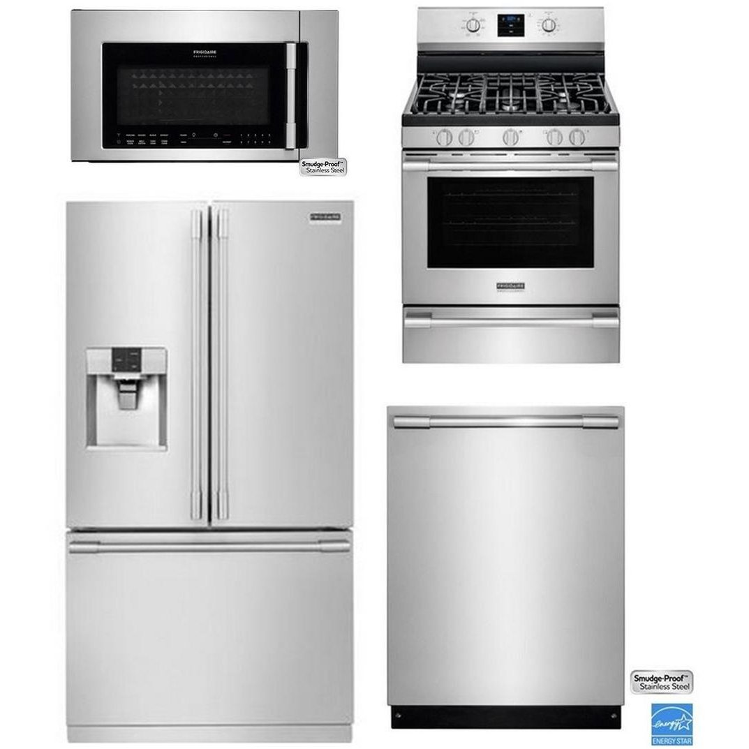 ... FRG PRO 3DR GAS KIT Frigidaire Professional Stainless Steel Kitchen  Appliance Package ...
