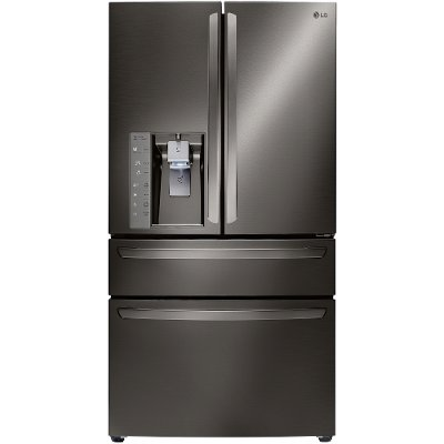 LMXC23746D LG Counter Depth 4 Door French Door Refrigerator - 22.7 cu. ft., 36 Inch Black Stainless Steel