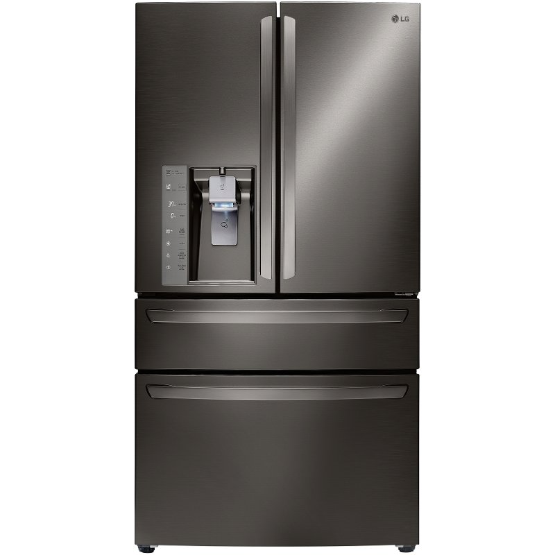 Delightful LMXC23746D LG French 4 Door Counter Depth Refrigerator   36 Inch Black  Stainless Steel
