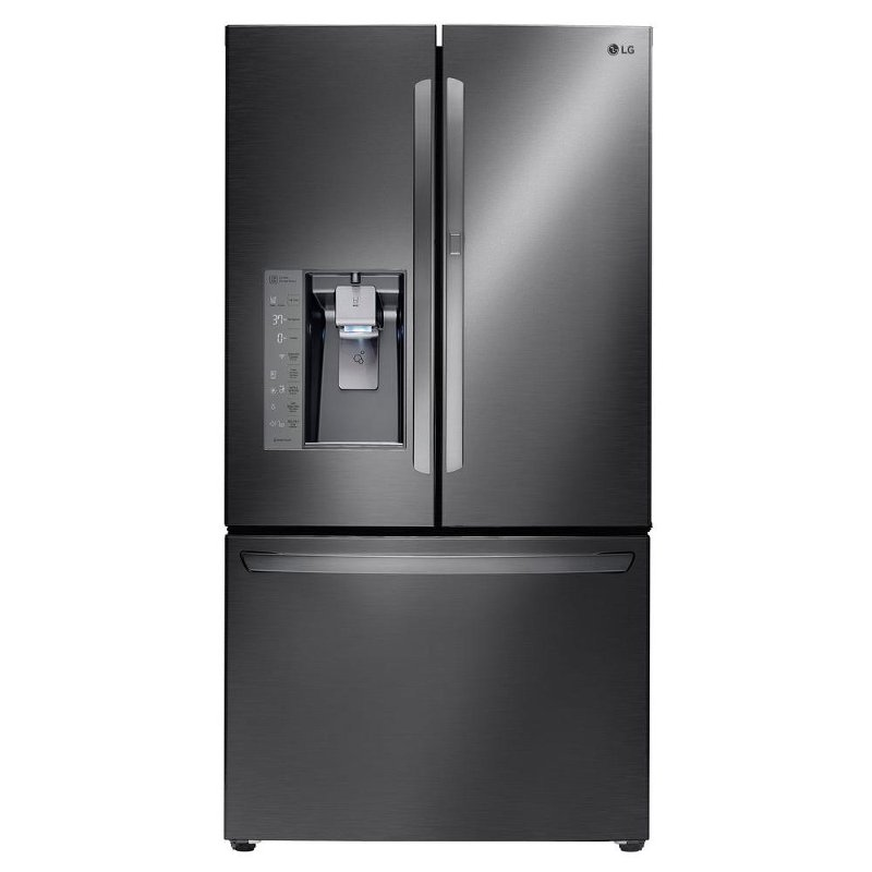 Lg French Door Refrigerator 36 Inch Black Stainless Steel Rc