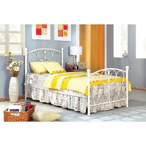 idf7706wh belle white princess twin metal bed