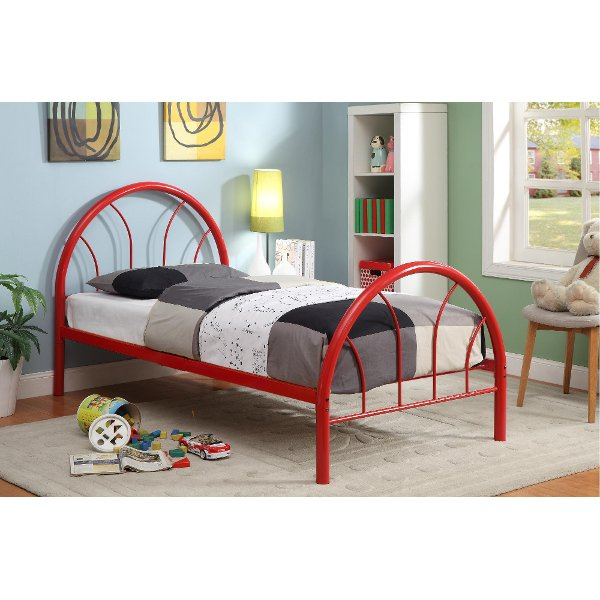 ... IDF 7712RD T Red Metal Twin Bed   Clarkson
