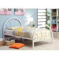 IDF-7712WH-T White Metal Twin Bed - Clarkson