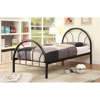 IDF-7712BK-T Black Metal Twin Bed - Clarkson