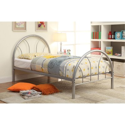 IDF 7712SV T Silver Metal Twin Bed   Clarkson