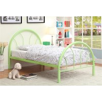 IDF-7712AG-T Green Metal Twin Bed - Clarkson