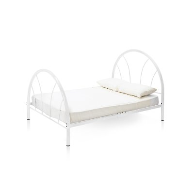 IDF 7712WH F Clarkson White Metal Full Bed
