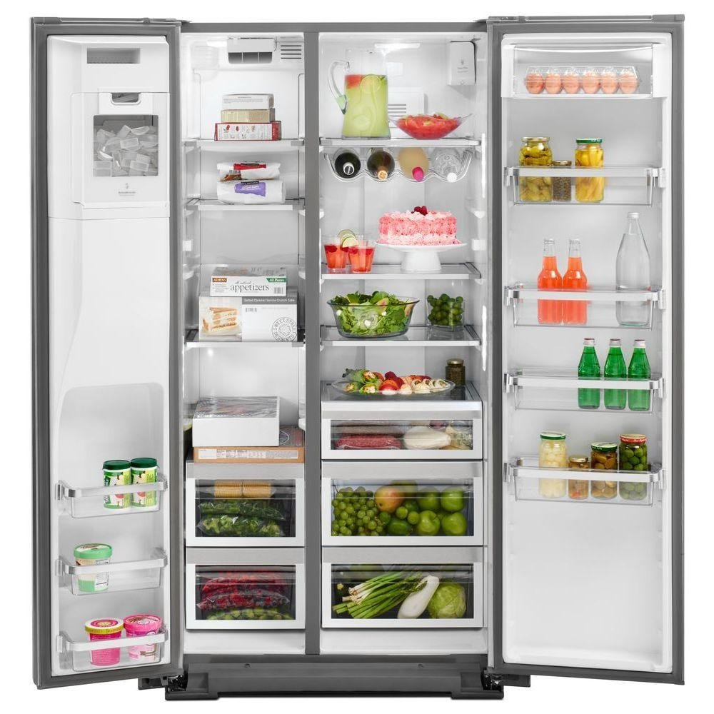 KitchenAid 36 Inch Professional Grade Side By Side Refrigerator  Counter Depth   Stainless Steel | RC Willey Furniture Store