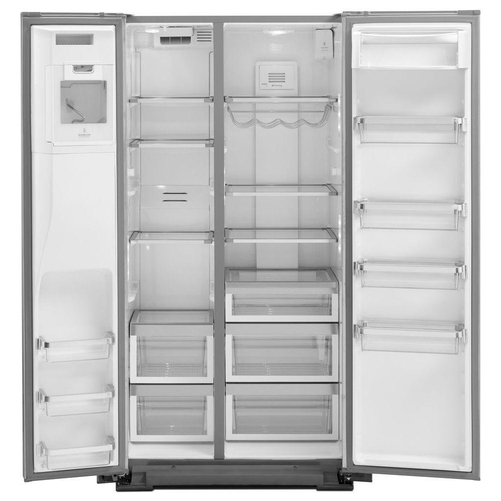 KitchenAid Professional Grade Side By Side Refrigerator   36 Inch  Counter Depth Stainless Steel   RC Willey Furniture Store