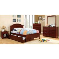 IDF-7942CH-T Cherry Classic Twin Platform Bed - Lexington