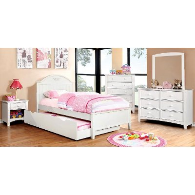 White Classic Twin Platform Bed - Lexington | RC Willey Furniture Store