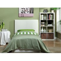 IDF-7008WH-T White Leatherette Twin Platform Bed - Manhattan
