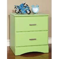 IDF-7941GR-N Green Youth 2-Drawer Nightstand - Swanson