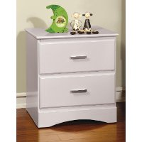IDF-7941WH-N White Youth 2-Drawer Nightstand - Swanson