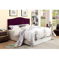 IDF-7989PR-HB-FQ Purple Upholstered Full-Queen Headboard - Venice
