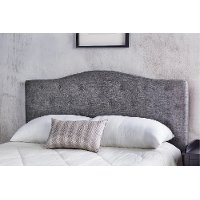 IDF-7989GY-HB-FQ Black & White Woven Upholstered Full-Queen Headboard - Venice