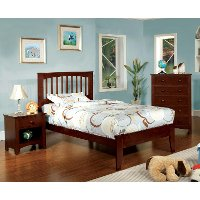 IDF-7908CH-T Cherry Twin Platform Bed - Villa