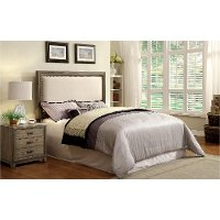 IDF-7615HB-Q Rustic Cream Queen Upholstered Headboard - Willow