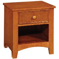 IDF-7905OAK-N Oak Single Drawer Nightstand