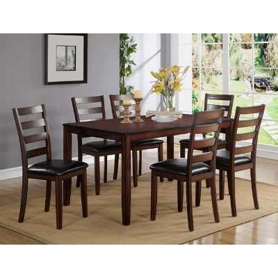 Dark Brown 7 Piece Dining Set - Traditional Tahoe Mango | RC Willey ...