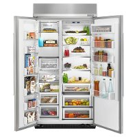 KitchenAid Built-In Side by Side Refrigerator - 42 Inch Stainless Steel