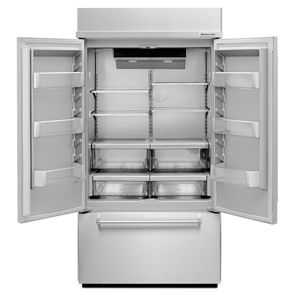 KitchenAid Built In French Door Refrigerator   42 Inch Stainless Steel   RC  Willey Furniture Store