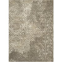 5 x 7 Medium Gray and Beige Area Rug - New Casa Area Rug