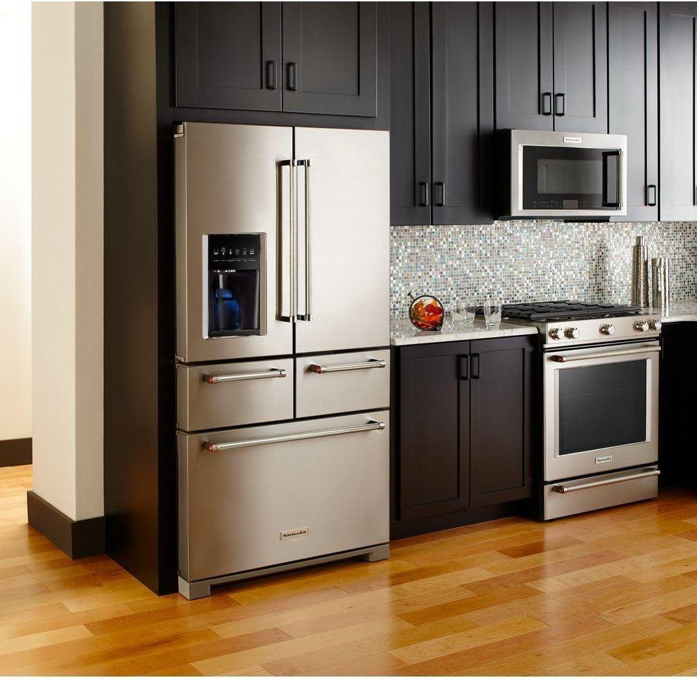 KitchenAid 36 Inch Stainless Steel 26 Cu. Ft. Multi Door Refrigerator | RC  Willey Furniture Store