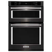 KOCE500EBS KitchenAid 30 Inch Combination Wall Oven with Microwave - 6.4 cu. ft. Black Stainless Steel