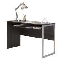 9026070 Gray Oak Desk with Storage - Interface