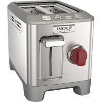 WGTR102S-SS-INDC Wolf Gourmet Stainless Steel 2-Slice Toaster