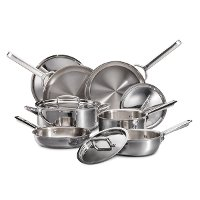 WGCW100S-INDC Wolf Gourmet 10 Piece Stainless Steel Cookware Set
