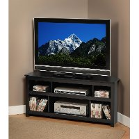 Black Panel Corner TV Stand - Vasari