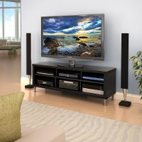 Series 9 Black TV Stand