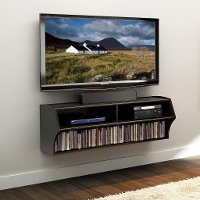 Black Wall Mounted A/V Console - Altus