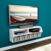 White Wall Mounted A/V Console - Altus