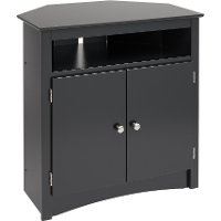 Black Tall Corner TV Cabinet - Sonoma