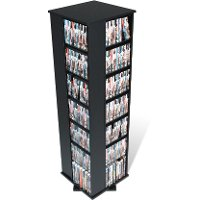 Black Large 4-Sided Spinner Media Tower