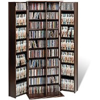 Espresso Large Locking Multimedia Storage Cabinet