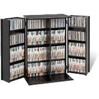 Black Small Locking Multimedia Storage Cabinet