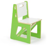 KC001-GRN_WHT Green Kids Chair - Play Room/Kids
